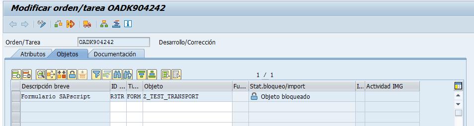 Modificar o incluir objetos SAP en una orden de transporte