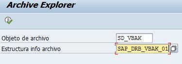 Archivado en SAP, archive explorer