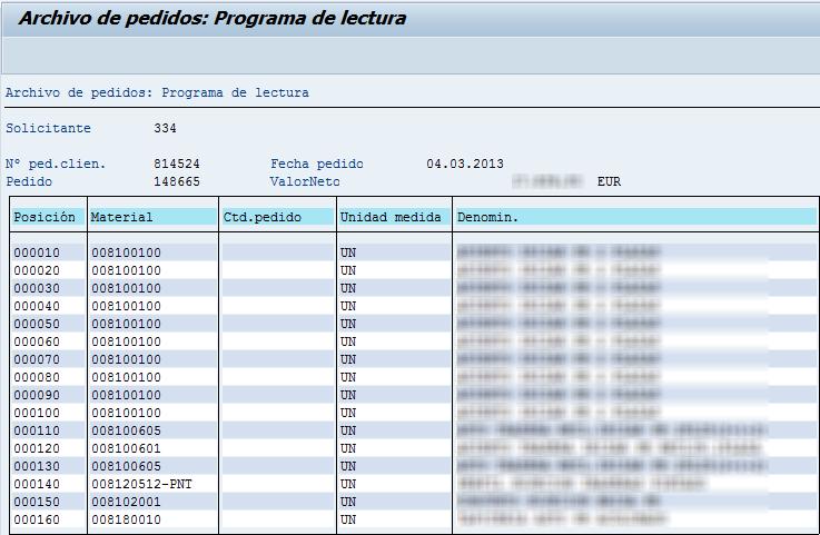 Archivado en SAP, archivo de pedidos