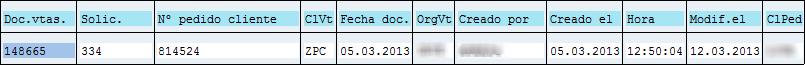 Archivado en SAP, opción filtrado 2