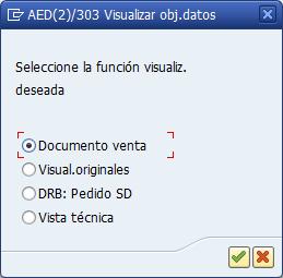 Archivado en SAP, opciones de visualización