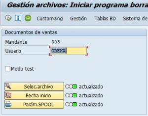 Archivado en SAP, programa borrado actualizado