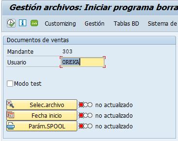 Archivado en SAP, programa borrado