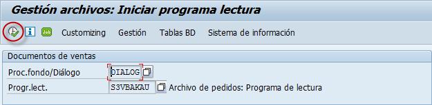 Archivado en SAP, programa lectura