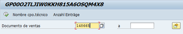 Archivado en SAP, seleccionar documento