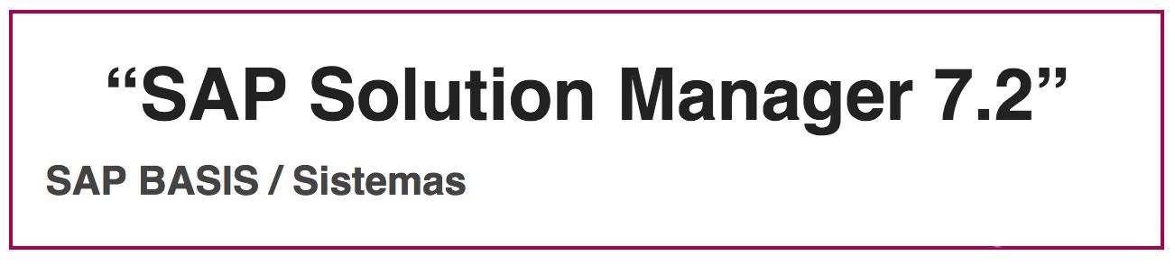 Webinar SAP Solution Manager 7.2