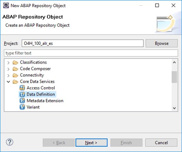 SAP HANA Core Data Services, generar vistas