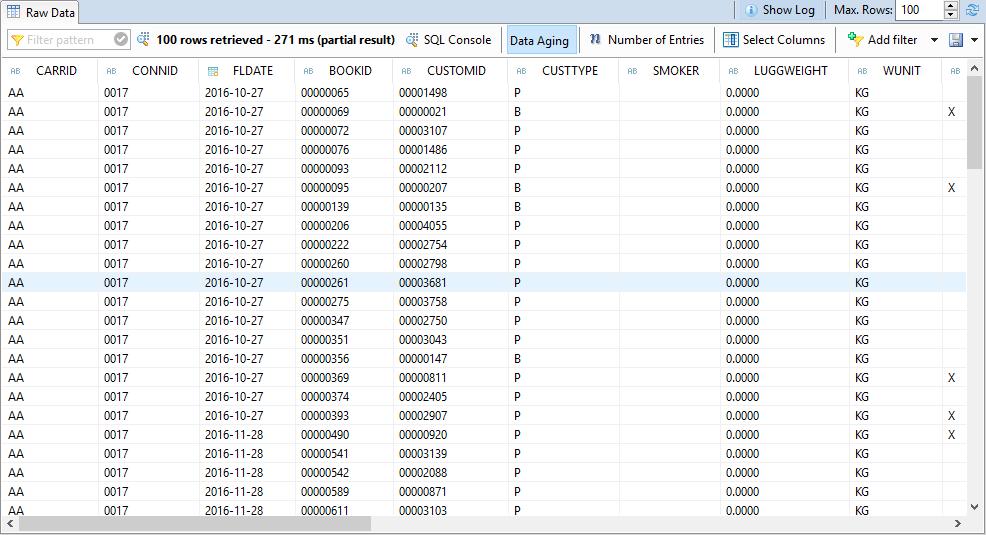 SAP HANA Core Data Services, vista ejemplo 1