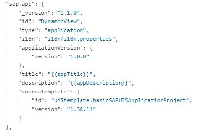 SAPUI5 manifest.json, sap.app