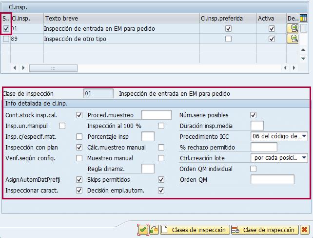 Módulo SAP QM, configurar información de clase