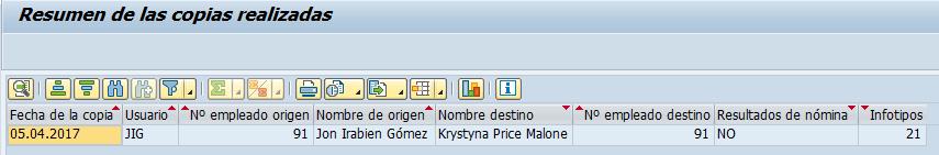 SAP HCM, resumen del clonado de empleados