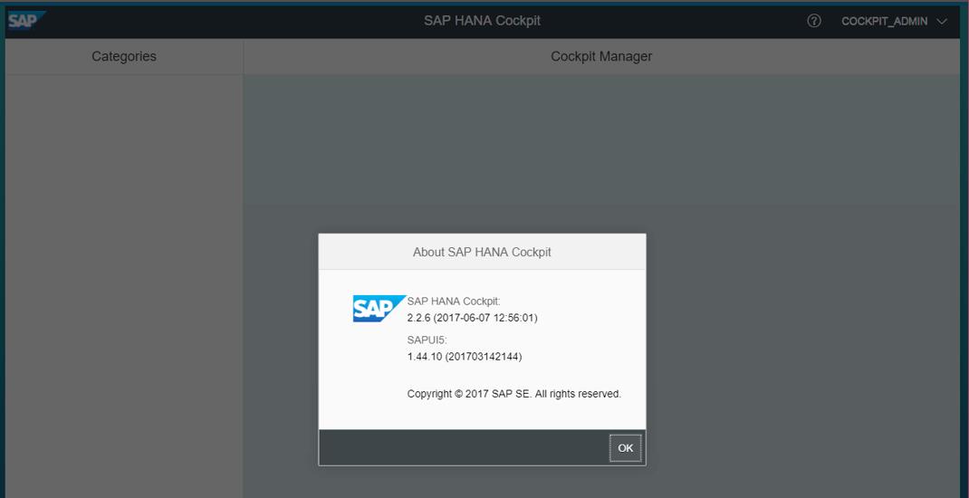 SAP Hana Cockpit 2.0