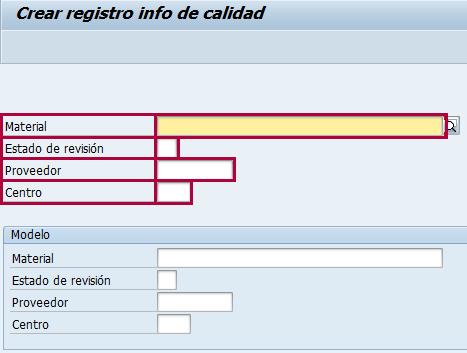Crear registro info en SAP QM