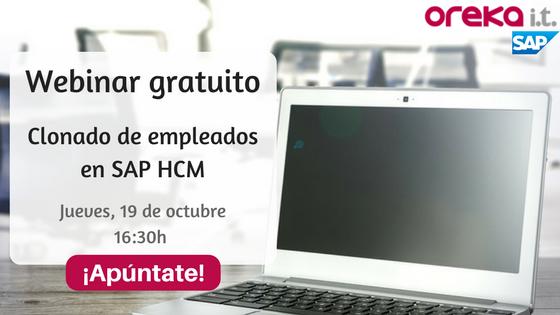 Seminario online gratuito SAP HCM – Clonación de empleados