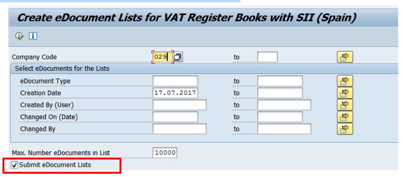 Envío automático de listas a la AEAT - SII