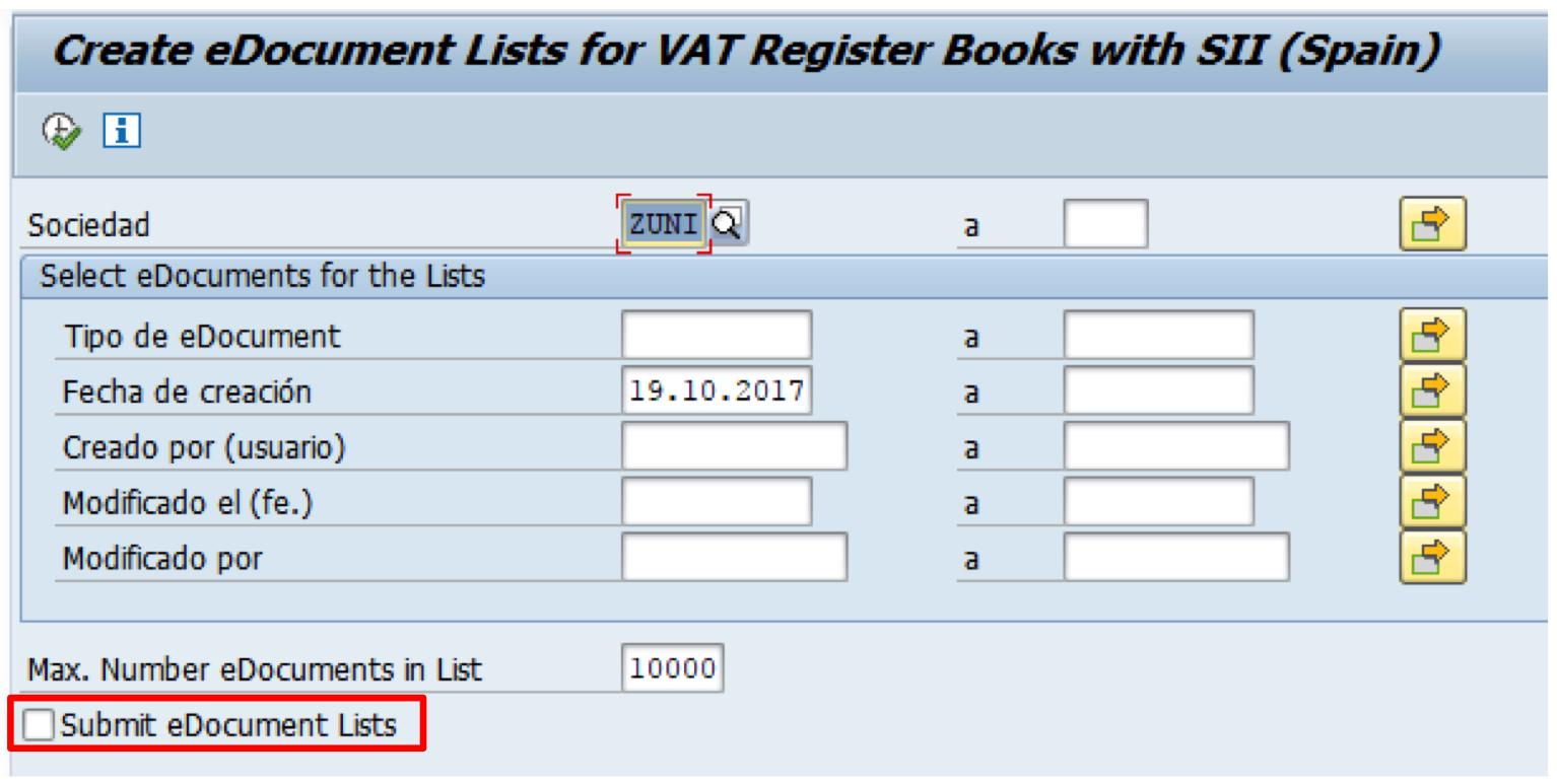 Envío aplazado de facturas al SII con SAP FI