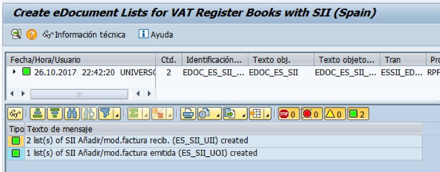 Creación y envío automático de listas a la AEAT