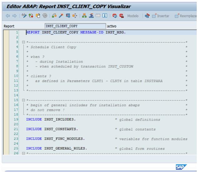 modificar un programa (report) o un módulo de función SAP S/4HANA