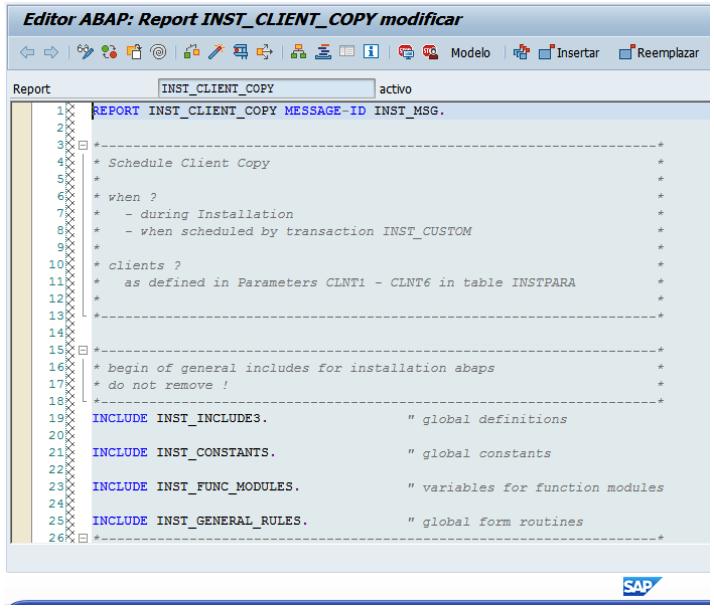 Advertencia modificación SAP S/4HANA