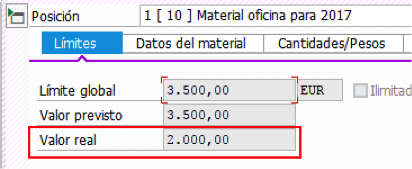ME23N – Visualizar pedido en SAP MM para pedido límite