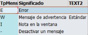 Parametrización de avisos 'warning' en SAP MM
