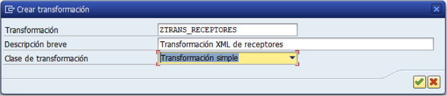 SAP: Transformación simple XML