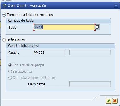 Parametrización cuenta de resultados en SAP - Elección de tabla modelo