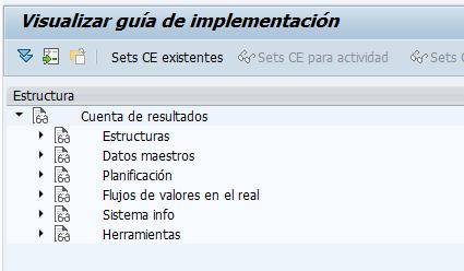 Parametrización cuenta de resultados en SAP - Puntos de parametrización