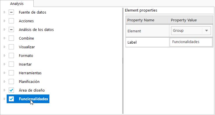 SAP BI AfO Personalizar la interfaz de usuario-Customize User Interface