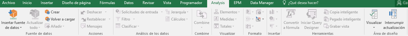 SAP BI AfO Personalizar la interfaz de usuario-Pestaña análisis estándar