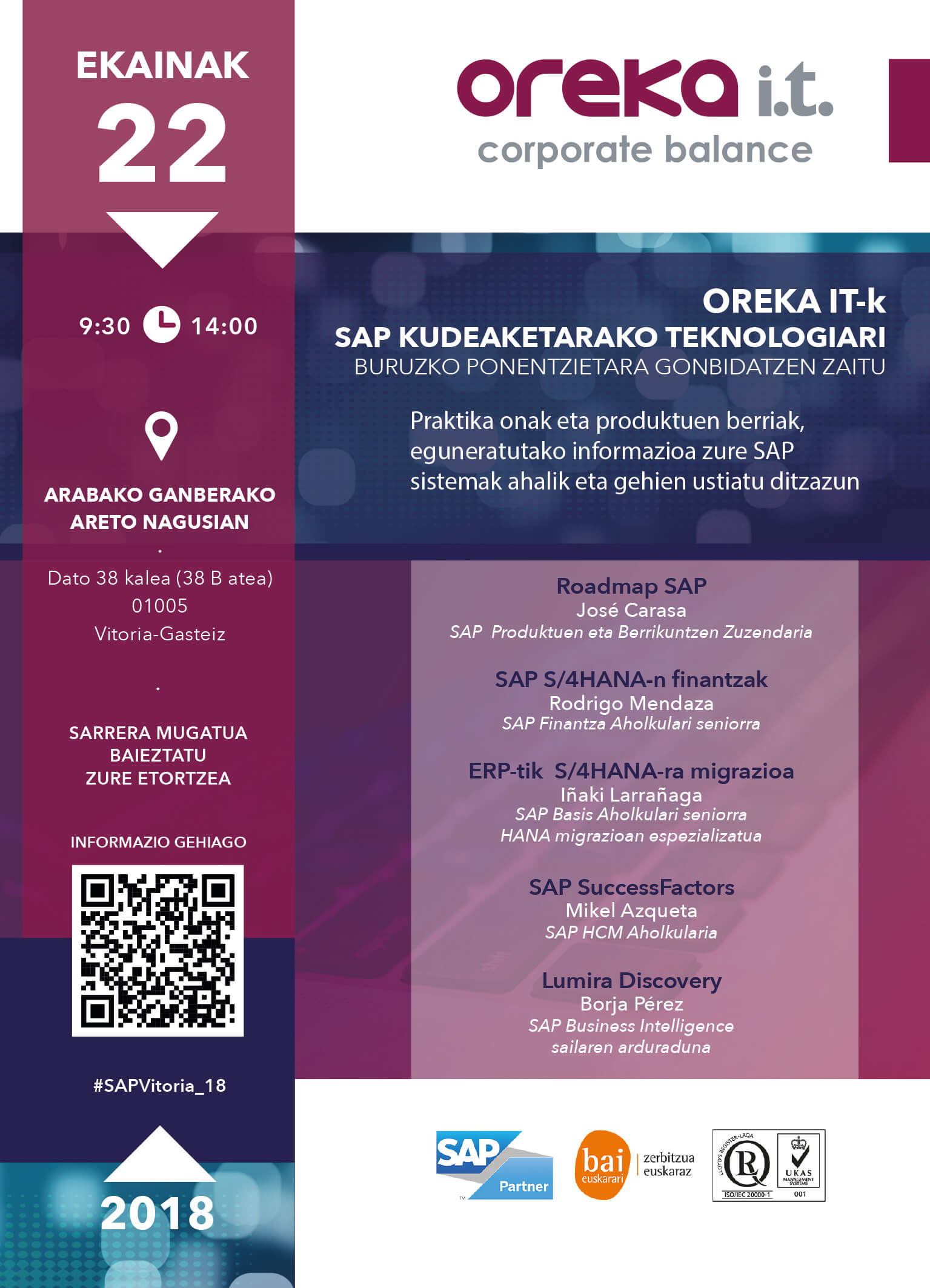 Jornada SAP 2018 Vitoria