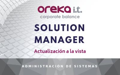 Solution Manager: Actualizacion a la vista