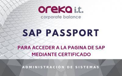 SAP Passport para acceder a la pagina de SAP mediante certificado