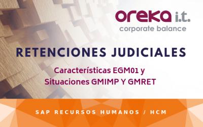 Retenciones judiciales. Característica EGM01 y situaciones GMIMP y GMRET