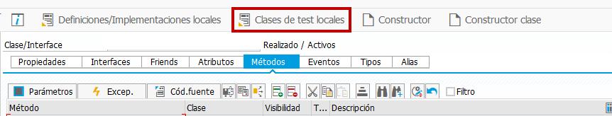 ABAP UNIT TESTING, Introducción técnica - Clases de test locales