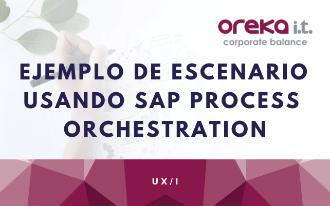Ejemplo de escenario usando SAP Process Orchestration