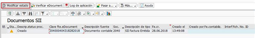 SII - TRATAMIENTO ERROR 11161117 GESTION DEL NIF EN SAP Transacción ESSII_EDOCLIST