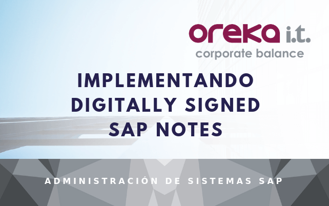 Implementando digitally signed SAP Notes