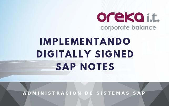 Implementando digitally signed SAP Notes