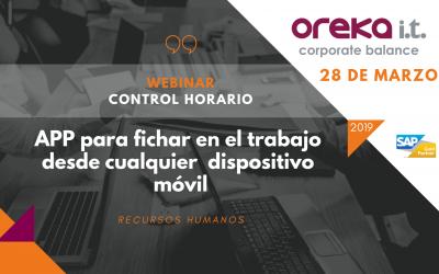 Webinar Control Horario · App para fichar en el trabajo desde cualquier dispositivo móvil