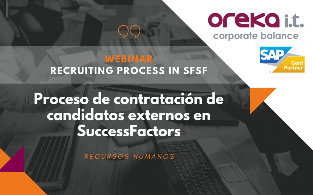 Webinar · Recruiting process en SAP SuccessFactors