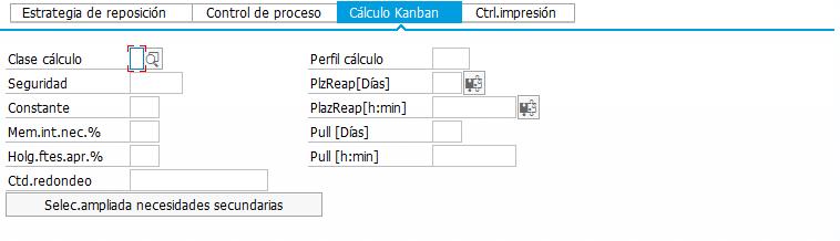 Ciclo de control en SAP- KANBAN - Cálculo automático de Kanbans
