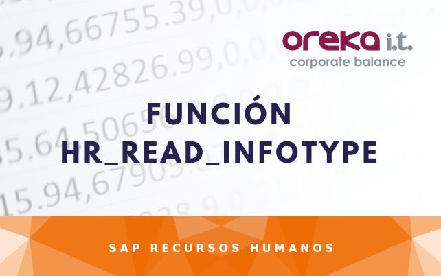 Función HR_READ_INFOTYPE en SAP