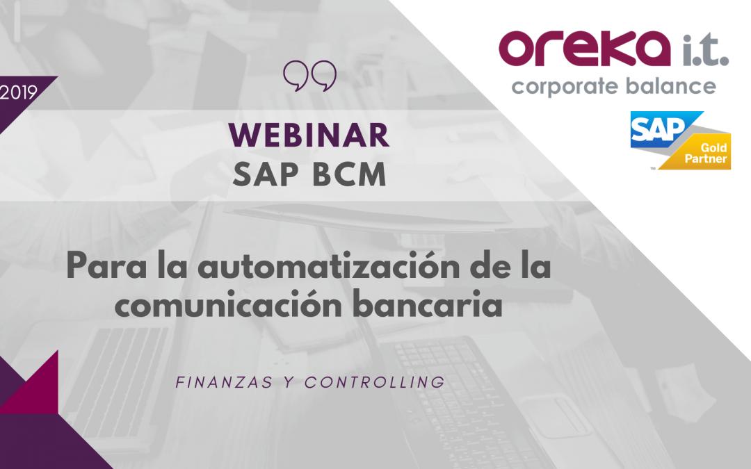 Webinar · SAP BCM para la automatización de la comunicación bancaria