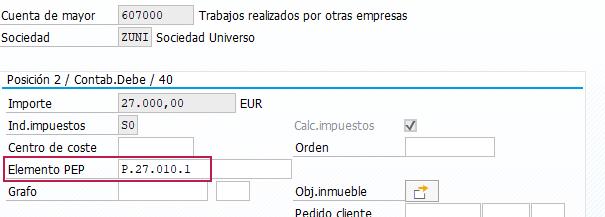 SAP PS Project System – Proyecto de Inversión - Elemento PEP