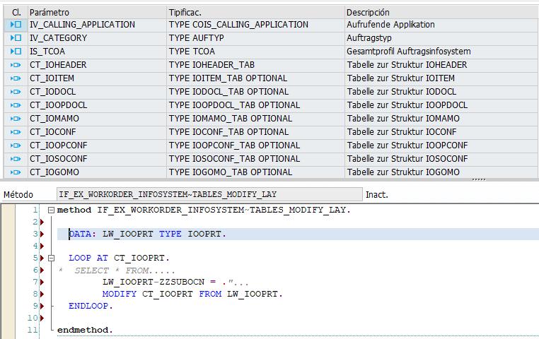 Añadir campos a la transacción estándar - añadir programación
