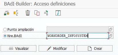 Añadir campos a la transacción estándar - implementación de badi