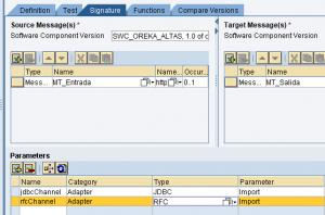 Mapeo de valores dentro del Graphical Mapping Editor en SAP PI - Definicion de comunicacion