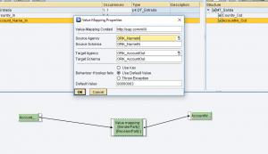Mapeo de valores dentro del Graphical Mapping Editor en SAP PI - Mapeo de cuenta nueva