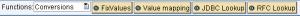 Mapeo de valores dentro del Graphical Mapping Editor en SAP PI - Opción Conversions